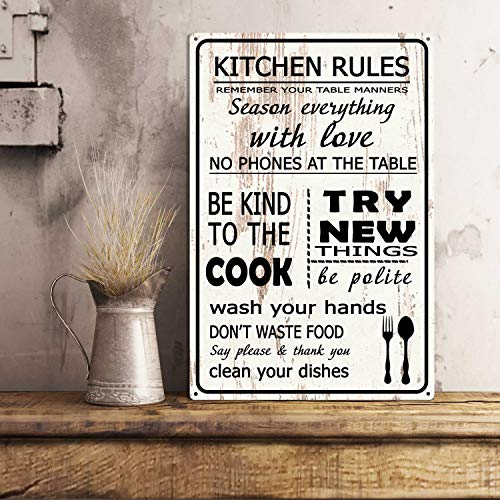 The454esa Kitchen Rules You Must Remember That The Kitchen Must be Clean. No Phones at The Table You Are The King in The Kitchen Omnipotent My Hands