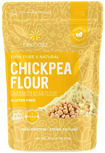 Chickpea Flour 2lbs / 32oz, Stone Ground Chickpea / Garbanzo bean Flour, Batch Tested Gluten Free, Non-GMO, Vegan.