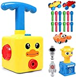 Bcamelys Balloon Car, Balloon Power Car Toy Set with Pump for Kids, Yellowduck