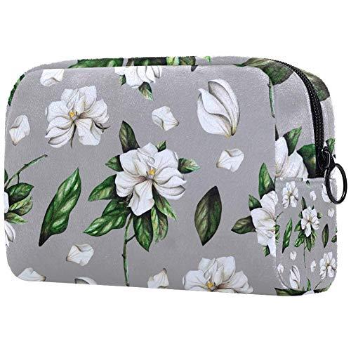 Bolsa de brochas de maquillaje personalizable, portátil, bolsa de aseo para mujer, bolso cosmético, organizador de viaje postales