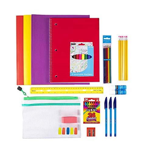 Wholesale Case Bundle of 24 Kits - 44 Piece Pack Bulk School Supplies Kit for Students, Teachers, Back to School Drives Bundle Pack