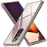ivoler Funda para Samsung Galaxy Note 20 Ultra/Note 20 Ultra 5G, Carcasa Protectora Antigolpes Transparente con Cojín Esquina Parachoques, Suave TPU Silicona Caso Delgada Anti-Choques Case