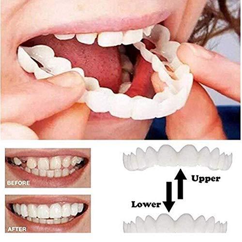 Zahnersatz für Sofortverblendungen, Zahnkosmetikaufkleber, Zahnverblendungen, Whiten Smile Fake-Zahnabdeckung zum Ersetzen fehlender Zähne