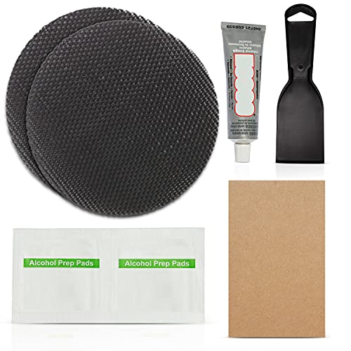 Trampoline Repair Patch Kit 4 inch Circle Glue on Patches | Repair for a Trampoline mat Tear or Hole (Circle)