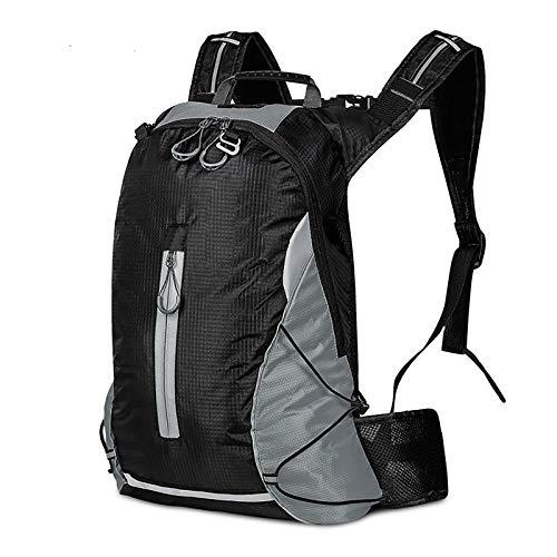 Jeffyo Cycling Backpack Mountain Bike Bag Leisure Light Durable Travel Camping Hunting Climbing Backpack Riding Equipment Gray