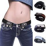 Ambility Cinturón elástico sin Hebilla Sin Hebilla Cinturón elástico para Pantalones Jean Vestidos