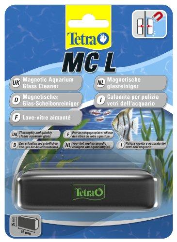 Tetra MC Magnetischer Scheibenreiniger für das Aquarium, Scheibenmagnet für eine schnelle und einfache Aquarium Reinigung, Größe L (geeignet bis 10 mm Glasstärke)