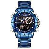 Los Hombres Miran los Relojes Militares Deportivos de los Hombres de la Marca Superior Reloj Digital de Cuarzo Impermeable de Acero Completo Relogio Masculino