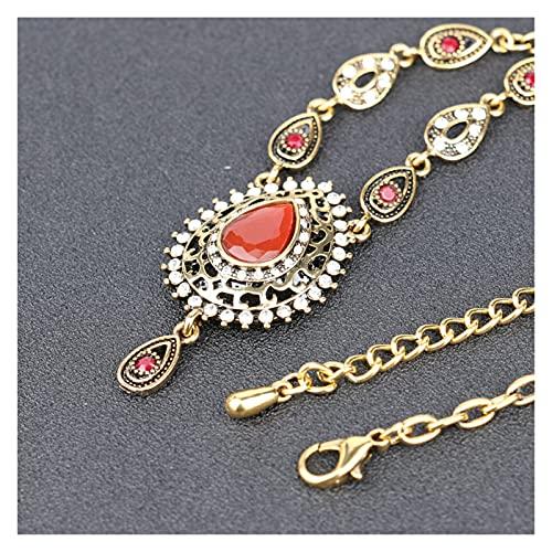 Collar Hermosa Antigua Color Dorado 2 Color Resina Gargantilla Colgante y Colgante de Cuello Alquiler de Accesorios de suéter de Mujeres de Austria JIAQII
