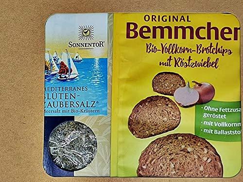 Brot & Salz Geschenk Set zum Einzug Umzug Einweihung Richtfest Hochzeit oder Taufe mit ausführlicher Beschreibung zur Tradition Brot + Salz zu schenken