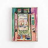 Póster de Henri Matisse - Calidad de galería - La ventana abierta - Decoración de arte de pared Pintura decorativa en lienzo sin marco Q-46 20x30cm