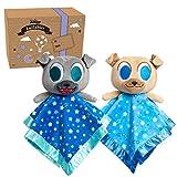Disney Junior Music Lullabies Lovey Blankies 2-Piece, Bingo & Rolly, Amazon Exclusive, by Just Play