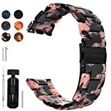 6 Colors for Quick Release Watch Band 20mm 18mm 22mm, Fullmosa Bright Resin Replacement Watch Strap 20mm Black Rose