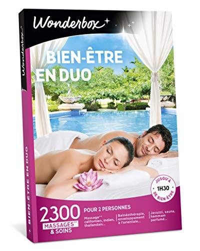 Wonderbox - Coffret cadeau fête des pères - BIEN-ETRE EN DUO – 2300 massages, sauna, shiatsu, spa, hammam