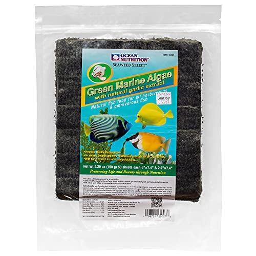 Ocean Nutrition Seaweed Selects Green Marine Algae 50-Sheets 5.1-Ounces (150 Grams)