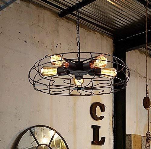 Personalidad simple y creativa Comedor Habitación Lámpara de techo Lámpara de techo Americana Retro Industrial Estilo Ropa Tienda de ropa Decoración de hierro forjado