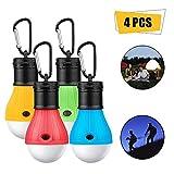 ASANMU Camping Lampen LED, 4 Stücke LED Campinglampe Campingleuchte mit Karabiner Tragbare Laterne...