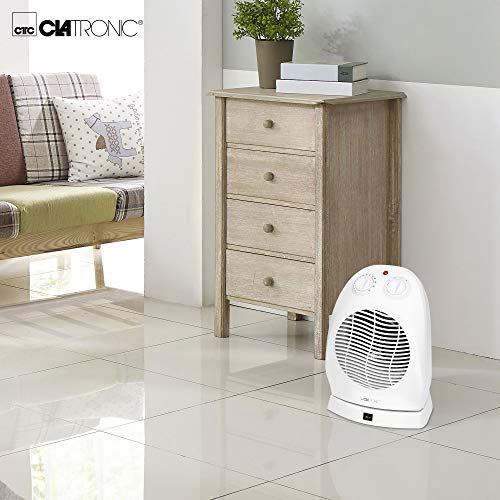 Clatronic Calefactor HL 3377, 1000 W, De plástico, Color blanco