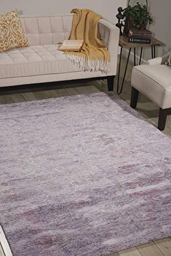 Rugs Direct Teppich, 30 % Wolle, 70 % Viskose, Violett, 114 x 175 cm
