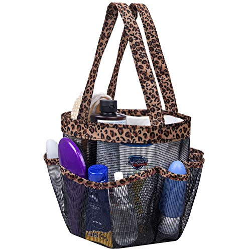 Attmu Mesh Shower Caddy Basket, Shower Tote Bag Hanging Toiletry College Dorm Room Essentials for Girls and Boys