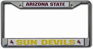 Rico Industries NCAA Arizona State Sun Devils Standard Chrome License Plate Frame