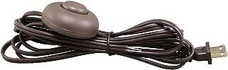 iLightingSupply 56-1906-45 Lamp Cordset with Floor Switch Installed, Brown