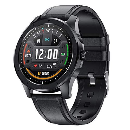 Ladies Men Smart Watch MX10, Color Pantalla táctil Completa Fitness Tracker Presión Arterial Reloj Inteligente Smartwatch para Android iOS,D
