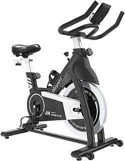 ATIVAFIT スピンバイク フィットネスバイク 本格トレーニング向き 16KG 無段階負荷調節 静音 エアロビクスバイク サドル&ハンドル調節可能 心拍数測定 有酸素運動 移動用キャスター付き