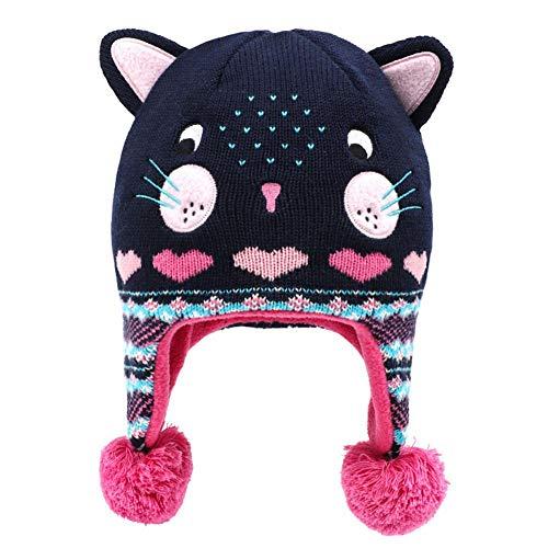 Lumanuby. 1Pcs Enfant Casquette Tricote Chapeau Dessin Cache-Oreilles Bonnet Chat Bébé Fille...