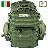 Zaino Militare Tattico D'assalto 40 Litri Esercito Italiano. Multitasche Capiente per Escursionismo,...