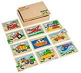 Educo Caja de Rompecabezas vehículos | Materiales educativos | Puzzle – Juego y Resolver – Puzzle de Madera | A Partir de 72 Meses | hasta 144 Meses