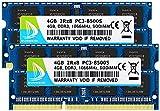 DUOMEIQI Kit de 8GB (2 X 4GB) 2RX8 PC3-8500S DDR3 1066MHz SO-DIMM CL7 204 Pin 1.5v Non-ECC Memoria para computadora portátil sin búfer Módulos RAM para computadora portátil