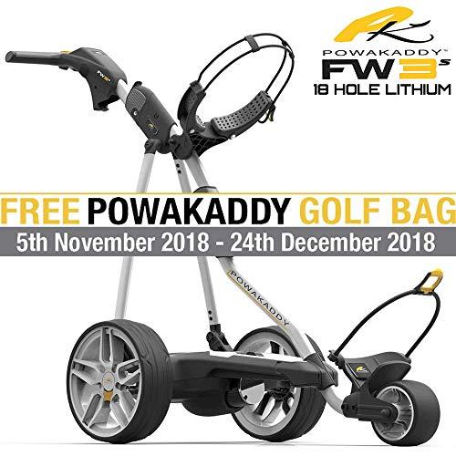 POWAKADDY FW3S Bianco Trolley da Golf Elettrico + 18Fori Batteria al...