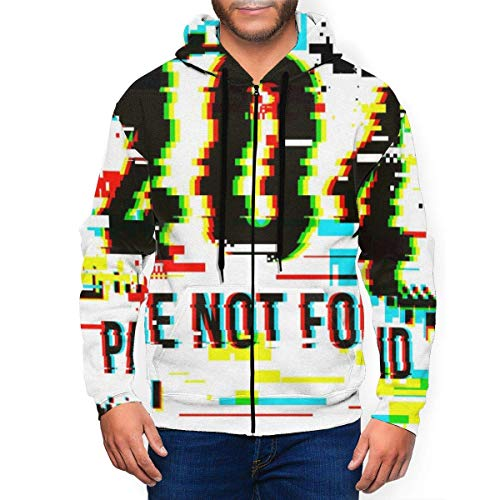 fudin 404 Error Page - Sudadera con capucha para hombre