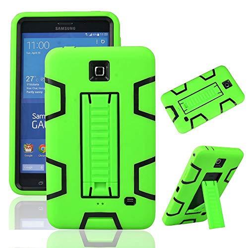 MagicSky Galaxy Tab 4 7.0 Case, 3in1 Heavy Duty Hybrid Shockproof Armor Kickstand Case for Samsung Galaxy Tab 4 7.0 inch T230 /T231/ T235 Galaxy Tab 4 Nook Cover - Black/Green
