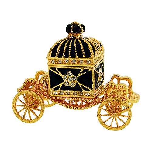 The Olivia Collection Rhinestone Set Trinket/Keepsake Carriage + Branded Box