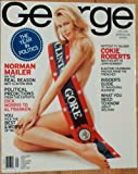 George Magazine CLAUDIA SCHIFFER BAREFOOT NUDE ON COVER January 1997 White Cover