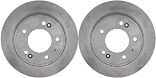 Rear Drilled Slotted Brake Rotor Pair for 2014-2018 Soul Forte 2011-2019 Elantra