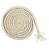 Jun Cordoncino intrecciato, a 8 fili, in cotone naturale, per macramè bohémien fai da te, 5mm x 90m, colori assortiti