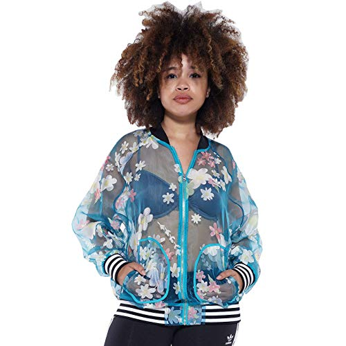 adidas Originals X Pharrell Williams Kauwela TT Superstar Bomber Jacke 528 Hertz, Größe:38, Farbe:Türkis