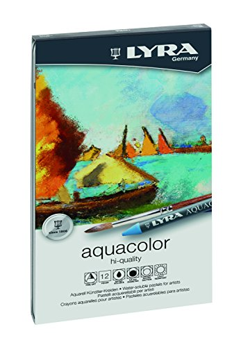 LYRA Aquacolor Water-Soluble Wax Crayons, Set of 12 Crayons, Assorted Colors (5611120) Photo #4