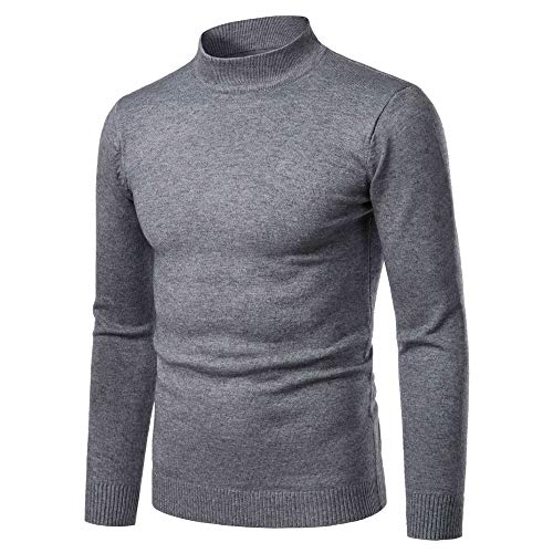 MENAB Mens Thermal Baselayer Top - Combed Cotton Sweater, Roll Neck Jumper, Breathable, Quick Drying & Fitted T Shirts Casual Slim Fit Basic Thermal Long Sleeve Turtleneck Solid Pullover Top