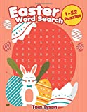 Easter Word Search 1-52 Puzzles: Easter Large Print Word Search For Kids Puzzles for Fun and Learning (Easter Basket Stuffers)