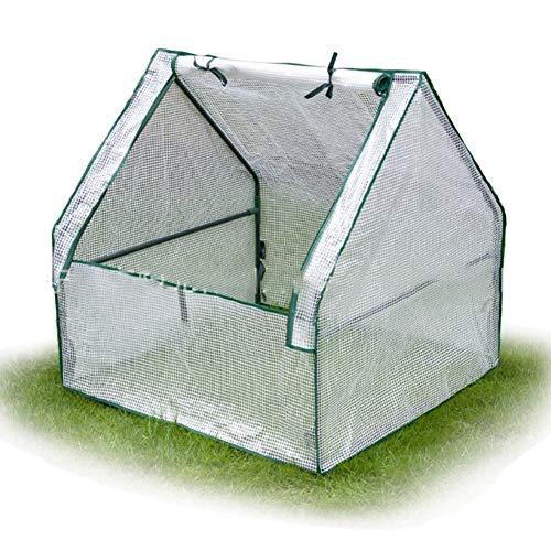 Gzhenh Invernaderos Jardin,Tomate Mantener Caliente Cubierta Anticongelante Patio Vivero De Plantas Pequeño Invernadero Diseño De Cremallera Ventilación, 2 Colores