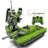YARMOSHI Remote Control Tank Robot Toy. Launches Soft Bullets, Plays Battle Sounds