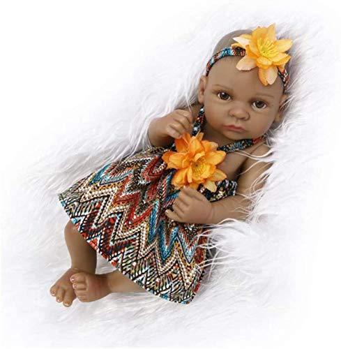 SERBHN Simulación De Silicona Muñeca Linda 27Cm Super Suave Ilustración Juguete Mini Bebé del Sueño del Bebé Ayudante Niña