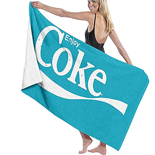 Lsjuee Toalla de baño de 80X130CM, Disfruta de Las Toallas de baño de Coca Cola, Toallas de baño de Playa súper absorbentes para Toallas de Playa de Gimnasio