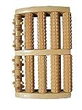 Large Dual Wooden Foot Roller Massager: Reflexology/Acupressure