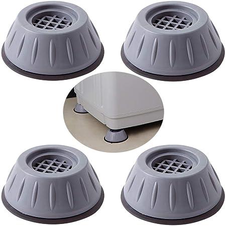 4 Pièces Anti Vibration Patins Machine à Laver Pieds, Patin Anti Vibration Machine à Laver, Tampons de Pieds en Caoutchouc Anti-Vibrations, pour Lave-Linge, Réfrigérateur, Séchant, Meubles