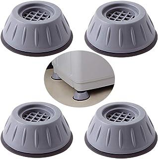 4 Pièces Anti Vibration Patins Machine à Laver Pieds, Patin Anti Vibration Machine à Laver, Tampons de Pieds en Caoutchouc...